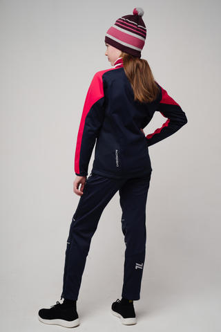 Nordski Jr Premium лыжный костюм детский pink-blueberry