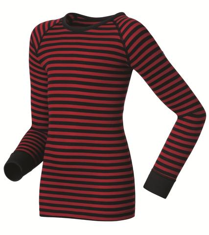 Odlo Warm детское термобелье рубашка синяя-красная