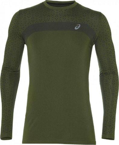 Asics Seamless Ls Texture мужская рубашка для бега