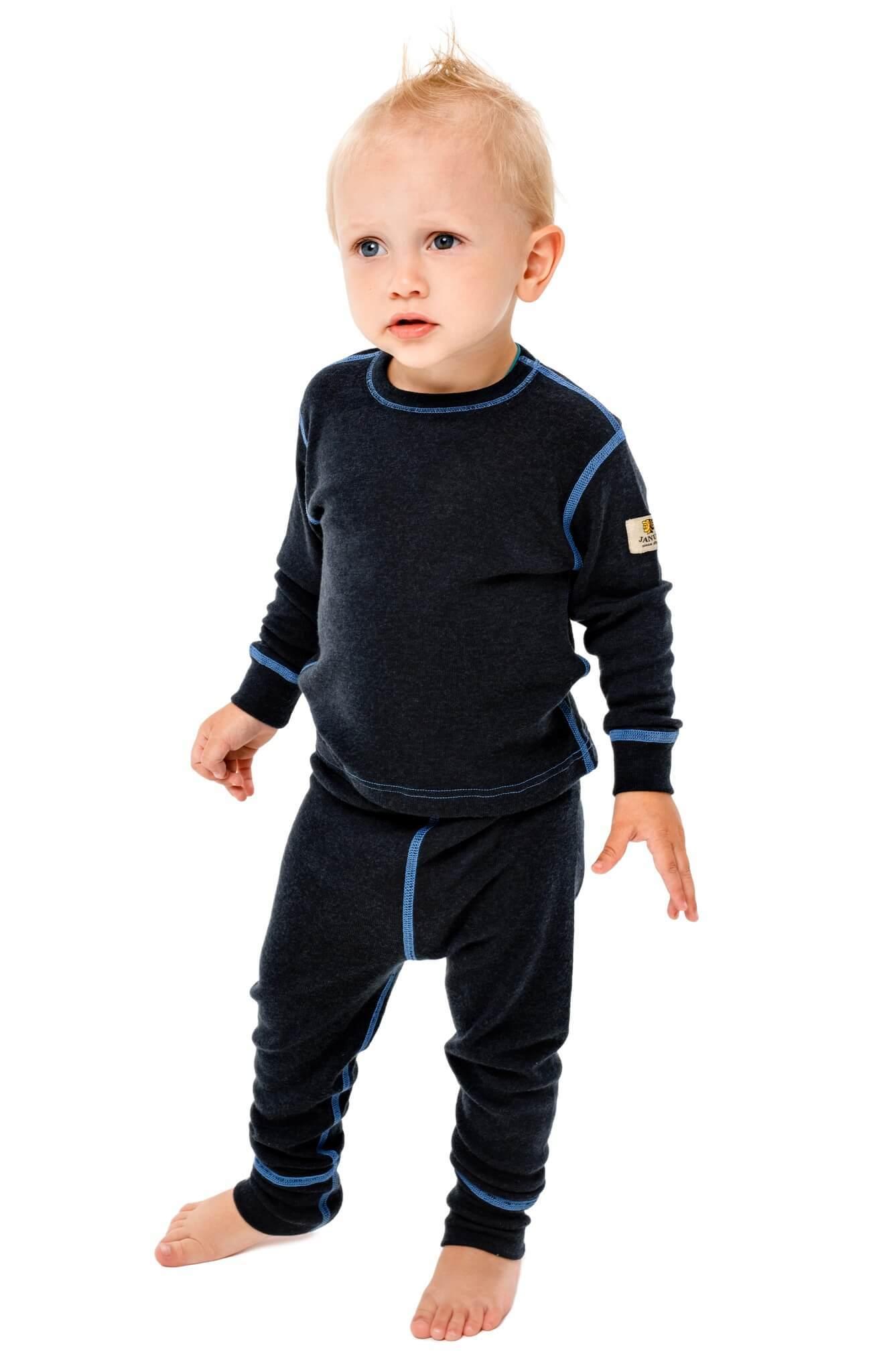 Janus детский комплект термобелья темно-серый - 3