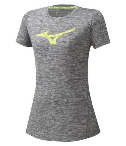 Mizuno Core Graphic Rb Tee беговая футболка женская серая