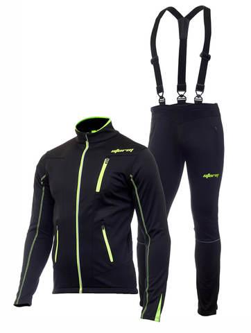 Утеплённый лыжный костюм Storm Speed (Шторм) black мужской