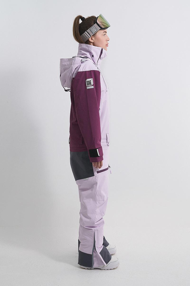 Cool Zone INTRO комбинезон женский сноубордический лавандовый-бордовый - 6