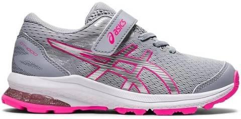 Asics Gt 1000 10 Ps кроссовки для бега детские серые-розовые