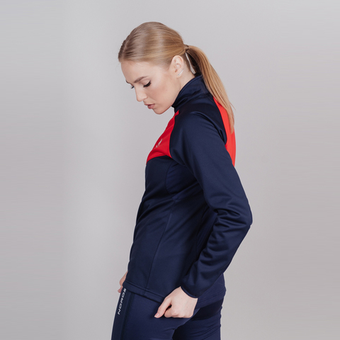 Nordski Premium разминочная куртка женская blueberry-red