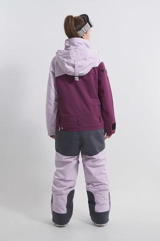 Cool Zone INTRO комбинезон женский сноубордический лавандовый-бордовый