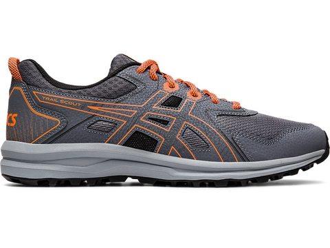 Asics Trail Scout кроссовки для бега мужские серые-оранжевые