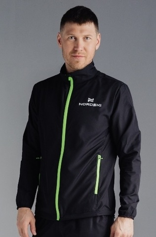 Nordski Motion Run костюм для бега мужской Black-Yellow