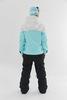 Комбинезон для сноуборда женский Cool Zone VIBE белый-аквамарин-черный - 4