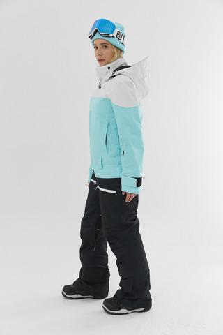 Комбинезон для сноуборда женский Cool Zone VIBE белый-аквамарин-черный