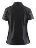 Рубашка-поло женская Craft Pique черная - 4