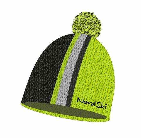 Nordski Knit лыжная шапка lime-black