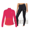 Asics Core костюм для бега женский розовый-черный - 1
