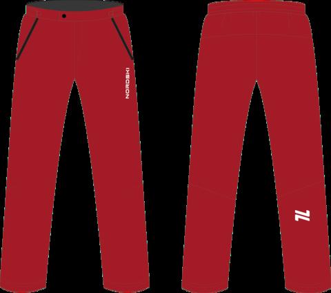 Nordski Light утепленные ветрозащитные брюки мужские красные
