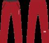 Nordski Light утепленные ветрозащитные брюки мужские красные - 2