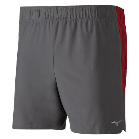 Mizuno Alpha 5.5 Short шорты для бега мужские серые-красные