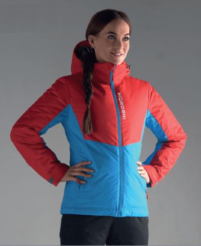 Nordski Montana утепленная куртка женская red-blue