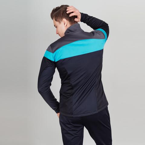 Nordski Drive мужской разминочный лыжный костюм black-blue