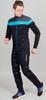 Nordski Drive мужской разминочный лыжный костюм black-blue - 1