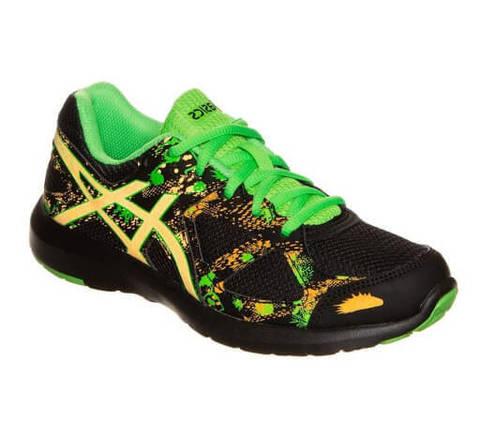 Asics Gel Lightplay 3 Gs кроссовки для бега детские черные-зеленые