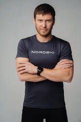 Nordski Logo футболка мужская graphite