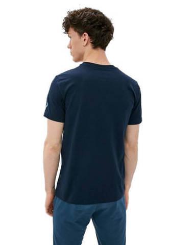 Asics Seasonal Logo Tee футболка для бега мужская темно-синяя