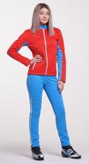 Nordski National женский разминочный костюм красный