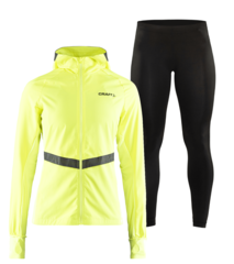 Craft Urban Wind Eaze женский костюм для бега черный-желтый