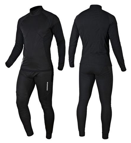 Комплект термобелья Noname Arctos Underwear Black WS  с ветрозащитой