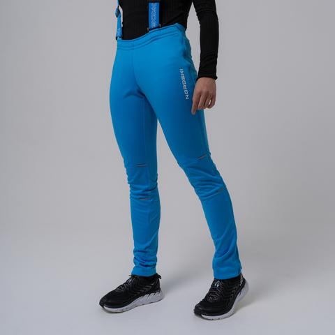 Nordski Premium разминочные лыжные брюки женские blue