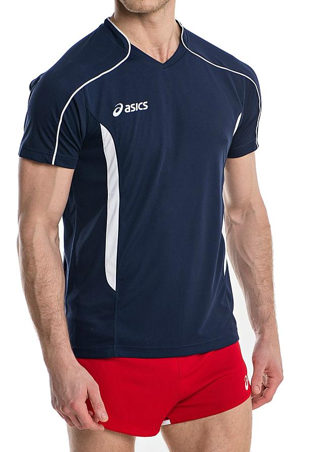 Волейбольная футболка Asics T-shirt Volo мужская Dark Blue