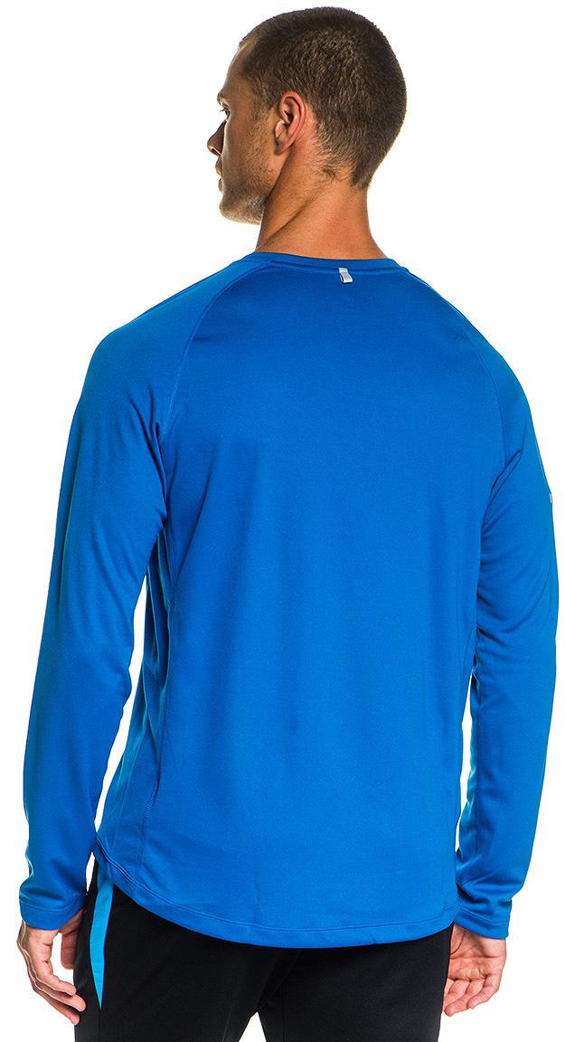 Футболка Nike Miler LS UV /Рубашка беговая голубая - 2