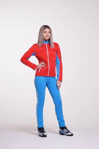 Nordski National женский разминочный лыжный костюм красный