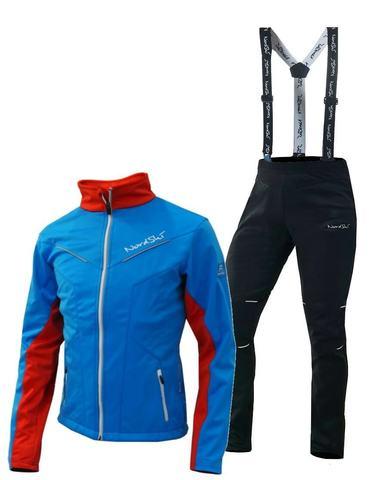Nordski National Premium разминочный лыжный костюм мужской Blue-Black
