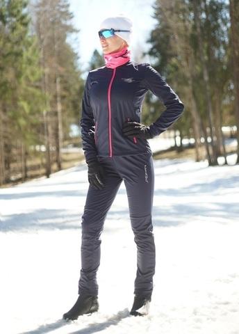 Nordski Jr Motion детский лыжный костюм blueberry-pink
