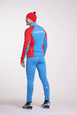 Nordski National мужской разминочный лыжный костюм красный