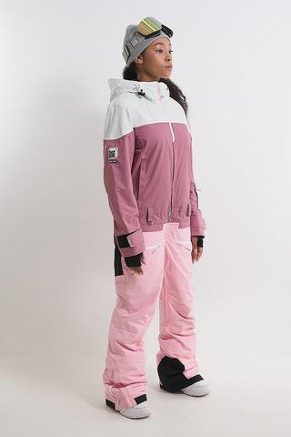 Cool Zone VIBE комбинезон для сноуборда женский белый-розовый