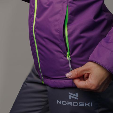 Nordski Motion утепленная куртка женская фиолетовая