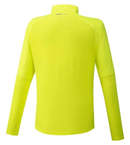 Mizuno Hybrid Dry Aeroflow Ls Hz рубашка для бега мужская желтая