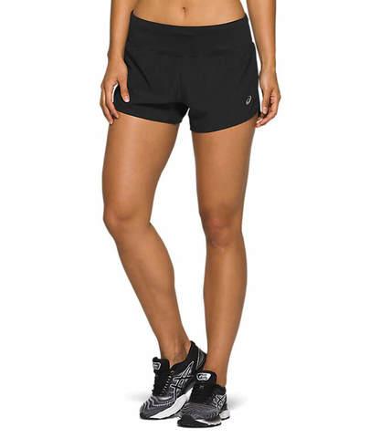 """Asics Road 3.5"""" Short шорты для бега женские черные"""