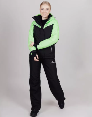 Горнолыжный костюм женский Nordski Extreme black-lime