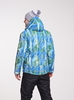Nordski City мужская зимняя куртка синий-лайм - 2