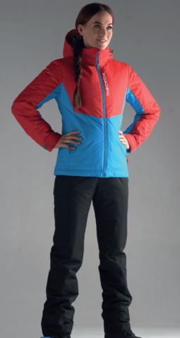 Nordski Montana утепленный лыжный костюм женский red