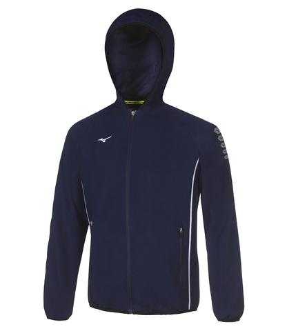 Mizuno Micro Jacket куртка для бега мужская синяя
