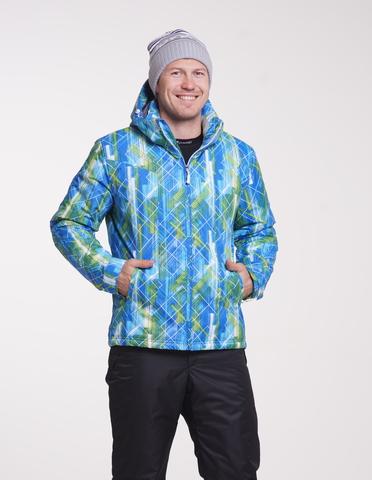 Nordski City мужская зимняя куртка синий-лайм