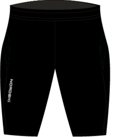 Nordski Premium Run шорты обтягивающие Black-Blue