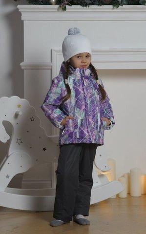 Nordski Kids City детский теплый лыжный костюм фиолетовый