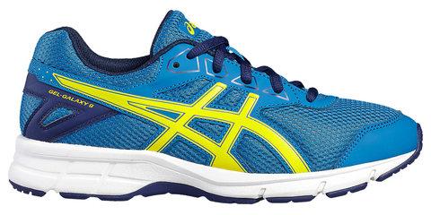 Asics Gel Galaxy 9 GS кроссовки для бега детские синие-желтые