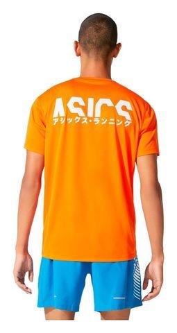 Asics Katakana Ss Top футболка для бега мужская оранжевая