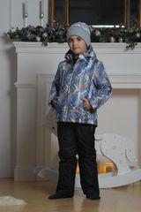 Nordski City детский теплый костюм синий-желтый-черный